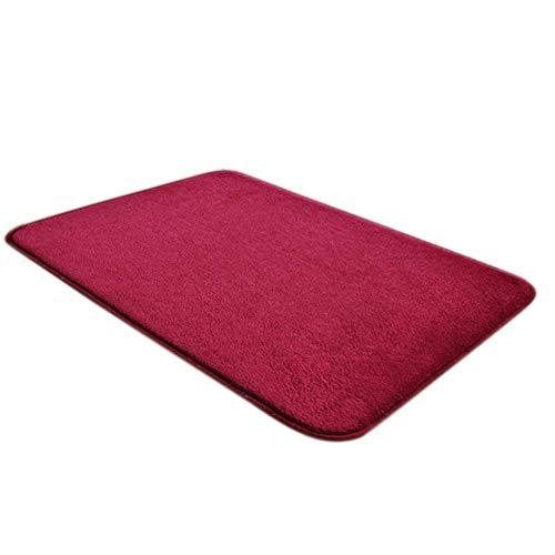 Baifeng Magia Antideslizante Felpudo Dirts Trapper Interior Súper Absorbente Felpudo - Rojo Vino, 40X60CM