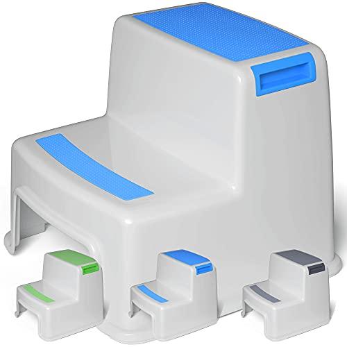 Premium Tritthocker von BEARTOP   sehr stabil (bis zu 100kg)   mit 2 Stufen   anti-rutsch-Beschichtung   26cm hoch   Kinderhocker, Kindertritt, Trittschemel   ZUFRIEDENHEITSGARANTIE (3 Jahre)*