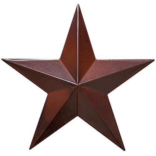 Scheunenstern – Metallsterne für draußen Texas Sterne Kunst Rustikal Vintage Western Landhaus Bauernhaus Wanddekoration (30,5 cm)