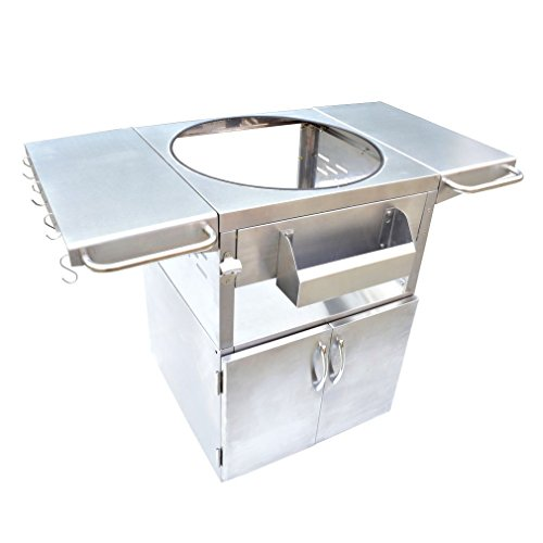 onlyfire Stainless Steel Grill Cart Table Fit for...