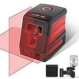 DETLEV PRO Livella Laser a Croce Autolivellante 3 Modalità Laser Autolivellante Misuratore Infrarossi Orizzontale e Verticale 360 Gradi Rotante Supporto Regolabile Modulo Laser Doppio 15m IP54 T01