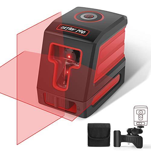 Nivel Laser Autonivelante, DETLEV PRO 15M con Doble Láser Módulo Línea Vertical y Horizontal Autonivelante Línea rojo
