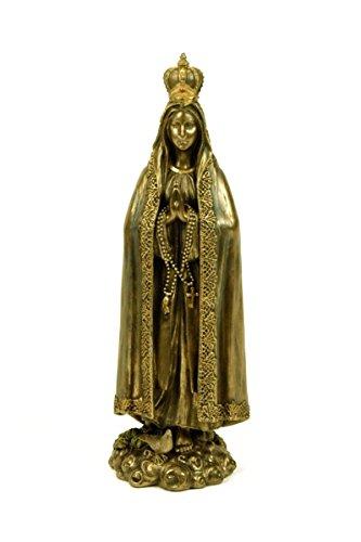 "Figura Decorativa Religiosa ""Virgen de Fátima"" Figuras Resina. 10 x 8 x 27 cm."