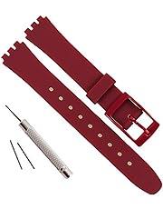 Vervanging 12mm waterdichte siliconen rubberen horlogeband horlogeband horlogeband voor Swatch