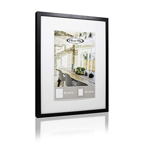 Close Up Posterrahmen 30x40 cm schwarz Premium MDF-Rahmen Plexiglas-Scheibe Bilderrahmen mit Passepartout