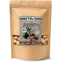 Biojoy Nueces de Macadamia orgánicas, crudas y enteras sin tostar y sin sal (1 kg)