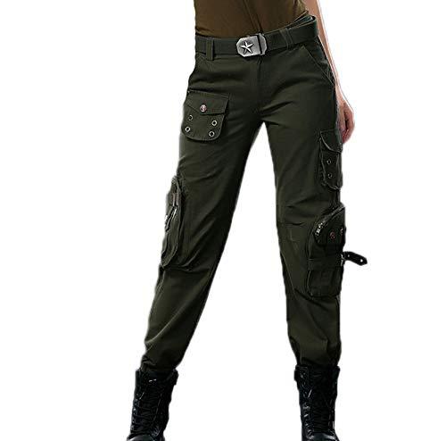 hibasing Pantalones Militares Unisex Pantalones tácticos Pantalones de Camuflaje para Mujer Pantalones Cargo Pantalones de Camping para Exteriores multifunción