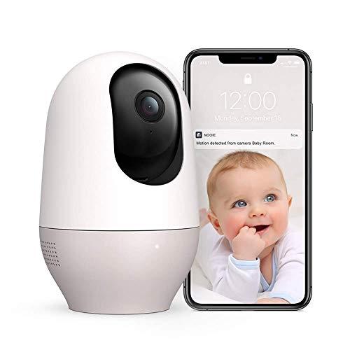 Baby Monitor, Nooie Telecamera di Sorveglianza WiFi,FHD 1080P 360° videocamera IP Interno Wireless con Visione Notturna, Audio Bidirezionale, Sensore di Movimento