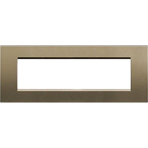 BTicino Livinglight Placca, 7 Moduli, Forma Rettangolare, Bronzo