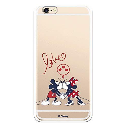 Funda para iPhone 6-6S Oficial de Clásicos Disney Mickey y Minnie Love para Proteger tu móvil. Carcasa para Apple de Silicona Flexible con Licencia Oficial de Disney.