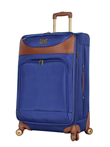 Caribbean Joe Luggage Castaway Large Expandable Suitcase With Spinner Wheels (Royal Blue)