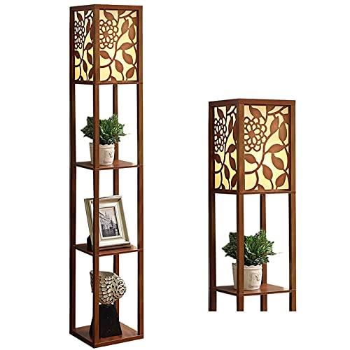 Lámpara de suelo de madera para dormitorio y sala de estar