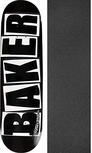 Baker Skateboards Brand Logo Black/White Skateboard Deck - 8.25