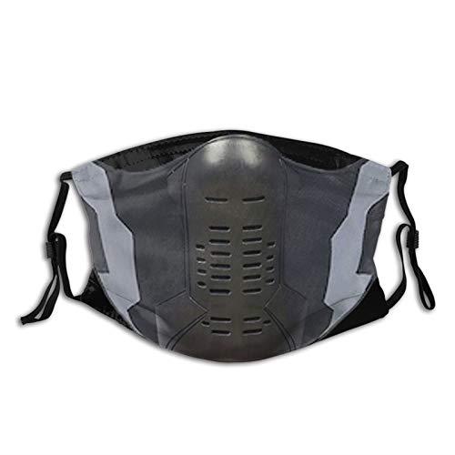 Kkkm Masks-Winter Soldier Face Mask Cloth Dust Masks are Washable, Reusable, Adjustable 1 Pcs Black