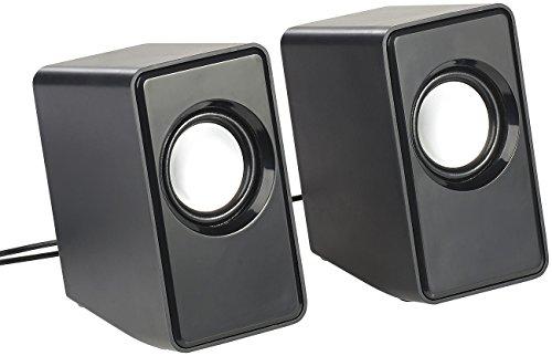 auvisio Mini Lautsprecher Klinke: Aktiv-Stereo-Lautsprecher, USB-Stromversorgung, 12 Watt, 3,5-mm-Klinke (Mini Lautsprecher Klinke Aktiv)