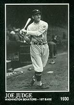 Joe Judge Baseball Card (Washington Senators) 1991 Sporting News Conlon Collection #68