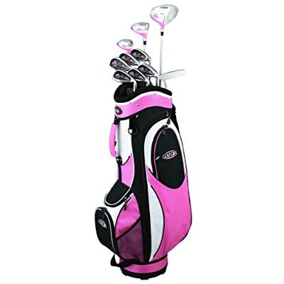 Golf Girl FWS2 Pink Lady Hybrid Club Set & Cart Bag
