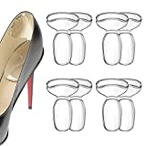 8 Soft Heel Cushion Inserts Pads for Women Shoes Transparent Heel Blister Prevention Heel Protectors Foot Pain Relief Gel Heel Grips Loose Shoes