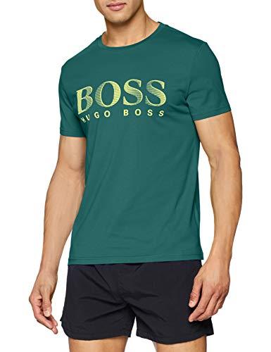 BOSS Herren Rn T-Shirt, Grün (Dark Green 304), Large