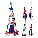 XIAMUSUMMER 5 unids Patriótico GNOME Muñeca de Felpa - Día de los Veteranos Americanos Presidente Electoral Ornamento Elfo - para el hogar Decoración de la Mesa de Verano