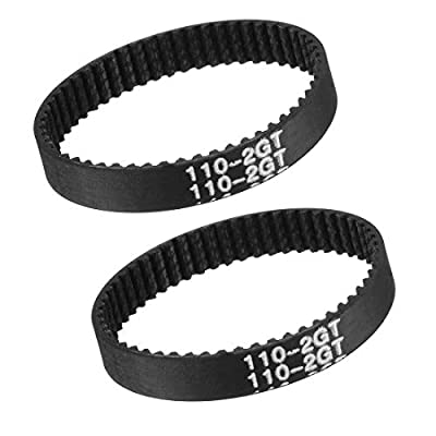 sourcing map 2pcs GT2 Timing Belt 110mm Circumference 6mm Width Closed Fit Synchronous Pulley Wheel for 3D Printer