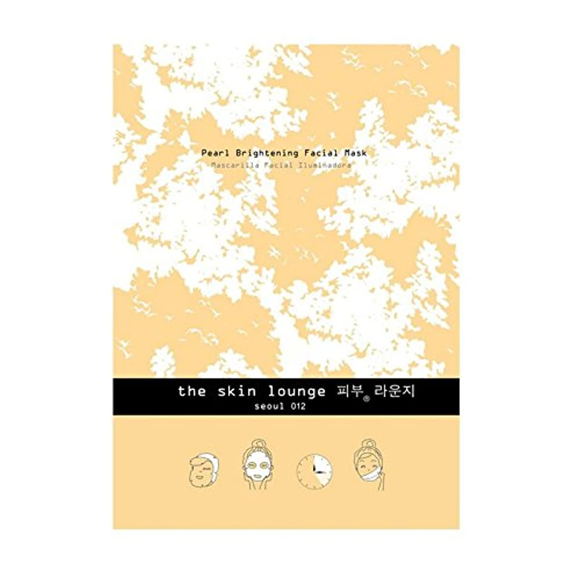 品種酒楕円形単一セルロースマスクを明るく皮膚ラウンジ真珠 x4 - The Skin Lounge Pearl Brightening Single Cellulose Mask (Pack of 4) [並行輸入品]