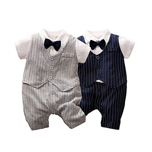 Mameluco de 2 piezas para recién nacido, bebé y caballero