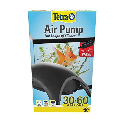 Tetra Whisper Air Pump 30 To 60 Gallons, For aquariums, Quiet, Powerful Airflow