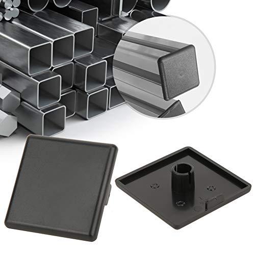 Tapa de extremo de la cubierta de plástico negro sujetadores Insertar el tapón del agujero del extremo 20pcs para 4545 perfiles de aluminio