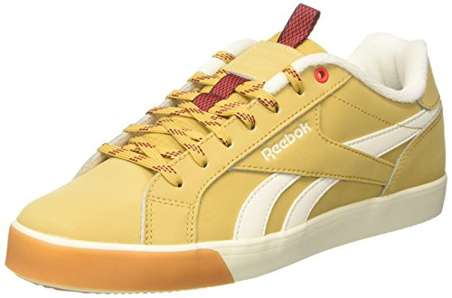 Reebok Royal Complete 2LW, Zapatillas para Hombre, Amarillo (Golden Wheat/Dark Root/Glow Red/Chalk/Gum), 44 EU