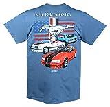 Joe Blow Ford Vintage Fox Body Mustang Flag T-shirt-large