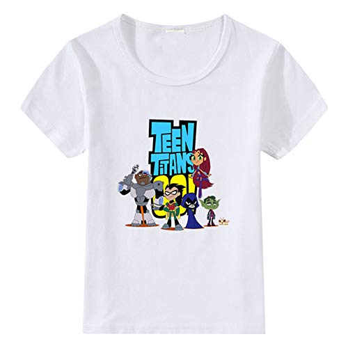 Teen Titans Go Camiseta Cozy Top Summer Crewneck Cartoon Impreso Manga