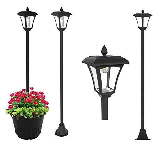 65 Street Vintage Outdoor Garden LEDs Bulb Solar Lamp Post Light Lawn - Adjustable