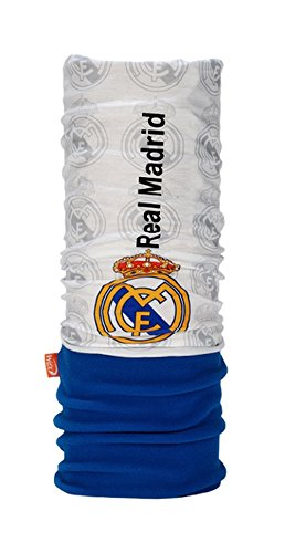 WIND X-TREME - Polar Headwear Real Madrid - 2503 - Cache-Cou - Unisex - Taille: Unique - Blanc/Bleu/Gris