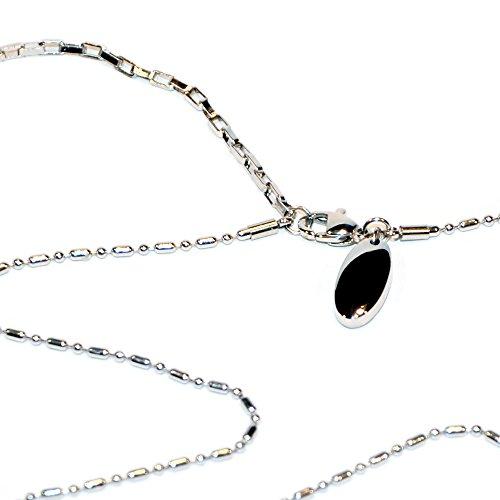 Magnetschmuck Glieder Edelstahl Halskette Energetix 4you 537 Uni Silber mit Magnetix Magnetanhänger 419 Länge universal 38,5-46,5 cm