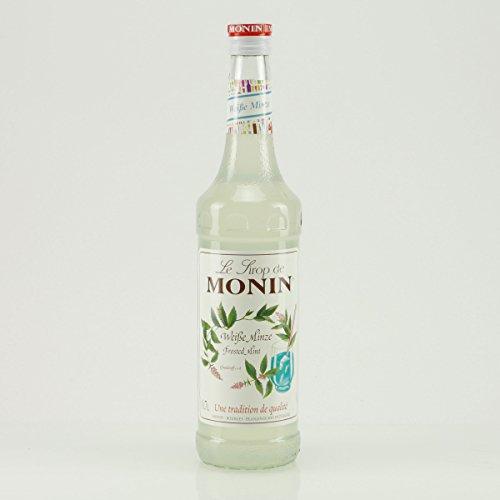Monin - Weiße Minze Sirup Getränkezusatz Cocktailsirup Cocktail Pfefferminz Drinks Spearmint - 0,7l