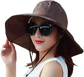 Outdoor UV Protection Rain Cap Waterproof Rain Hat Wide Brim Bucket Hat