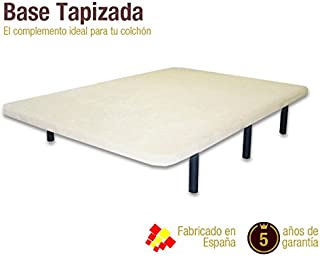 Naturconfort Base tapizada 3D Madera Blanco 105x190cm