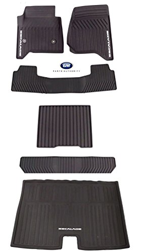 2015-2018 Cadillac Escalade ESV Premium All Weather Mat Package Black Genuine OE