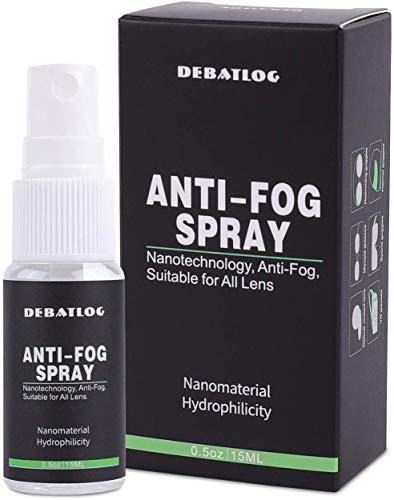 DEBATLOG Anti-Fog Spray for Glasses   Fog Gone   Work on Eyeglass, Mask, Sports Goggles, Swim Goggles, Bathroom Mirror Glass