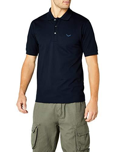 Trigema Herren Poloshirt Piqué-Qualität, Gr. Large, navy
