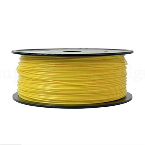 SRY-Holster HH-DYHC, 1pc PLA Filament 1.75mm 0.85kg 3D Printing Materials Imported PLA Plastic Granule Pollution-Free Material 3D Printer Filament (Color : Yellow)