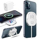 KKM 15W Magnetico Caricabatterie Wireless, Compatibile con MagSafe caricatore, Rapido Pad di Ricarica Wireless per iPhone 12/12 Pro/12 Pro Max /12 Mini/AirPods Pro(con Alimentatore USB-C da 18W)