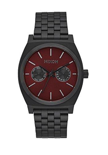 Nixon Herren Analog Quarz Uhr mit Edelstahl beschichtet Armband A9222346-00