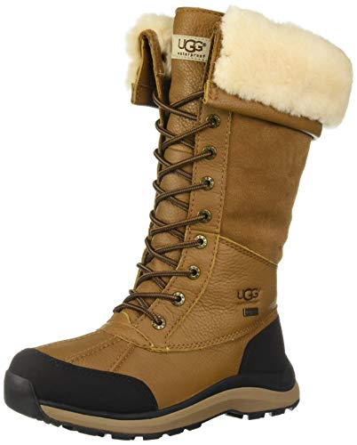 UGG Women's W Adirondack Boot Tall III Snow, Chestnut, 10 M US