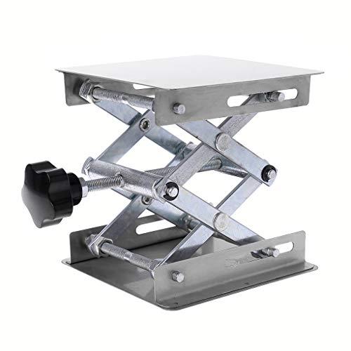 Soporte para plataforma de levantamiento de laboratorio, tijera, banco elevador, mesa de laboratorio, 100 x 100 mm, acero inoxidable para experimentos científicos