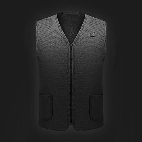 CLL Veste Skimpy CHAUFFÉ - Équipement Portable à 360 °, Intelligent Self, Sports de Plein air Instant Quick Heating, Noir, 3XL