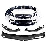 YMSHD Apto para Mercedes para Benz CLS Clase W218 Cls63 Amg Cls500 Sport 2011-2014 Fibra de Carbono CF alerón de Barbilla Frontal Divisor de Parachoques Labio Delantero