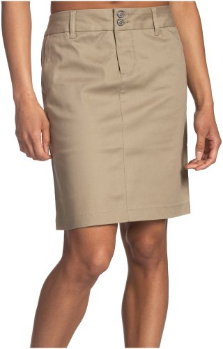 Dickies Girl Juniors 18' 4 Pocket Double Button Skirt,Khaki,7