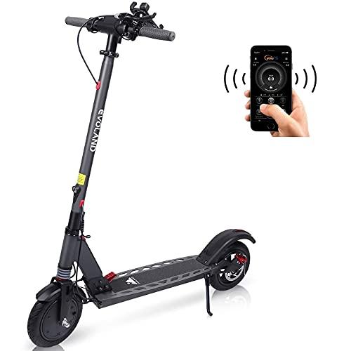 EVOLAND Monopattino Elettrico, Scooter Elettrico per Adulti con Una velocità Massima di 25km / h, Motore Brushless 36V 250W, Tre modalità di Guida, Design Pieghevole